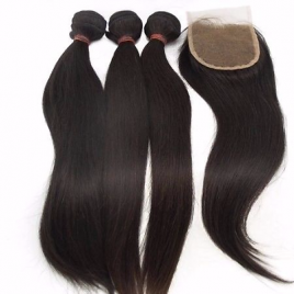 Brazilian Hair + Closure Combo